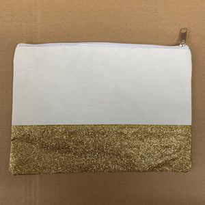 Glitter canvas cosmetic bags