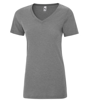 KOI® TRIBLEND V-NECK LADIES' TEE. KOI8022L - Grey Triblend - ENDS MONDAY OVERNIGHT - READY TO SHIP FRIDAY