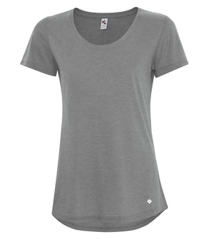 KOI Triblend Scoop Neck Relaxed Tee - Grey Triblend - KOI8036L - Backordered
