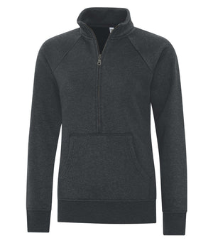 ATC ESACTIVE VINTAGE LADIES' 1/2 ZIP - L2042 - Black Heather - ends Monday night overnight - ready to ship Friday