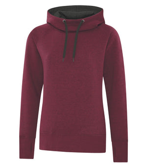 ATC ESACTIVE VINTAGE LADIES' HOODIE - L2045 - Cardinal Heather - BACKORDERED