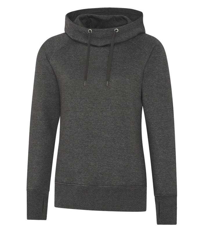 ATC ESACTIVE VINTAGE LADIES' HOODIE - L2045 - Charcoal Heather - ENDS MONDAY OVERNIGHT - READY TO SHIP FRIDAY