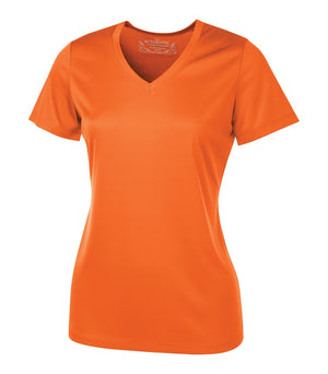 ATC PRO TEAM SHORT SLEEVE V-NECK LADIES' TEE - L3520 - Deep Orange - ENDS MONDAY OVERNIGHT - READY TO SHIP FRIDAY