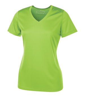 ATC PRO TEAM SHORT SLEEVE V-NECK LADIES' TEE - L3520 - Lime Shock - ENDS MONDAY OVERNIGHT - READY TO SHIP FRIDAY