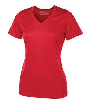 ATC PRO TEAM SHORT SLEEVE V-NECK LADIES' TEE - L3520 - True Red - ENDS MONDAY OVERNIGHT - READY TO SHIP FRIDAY