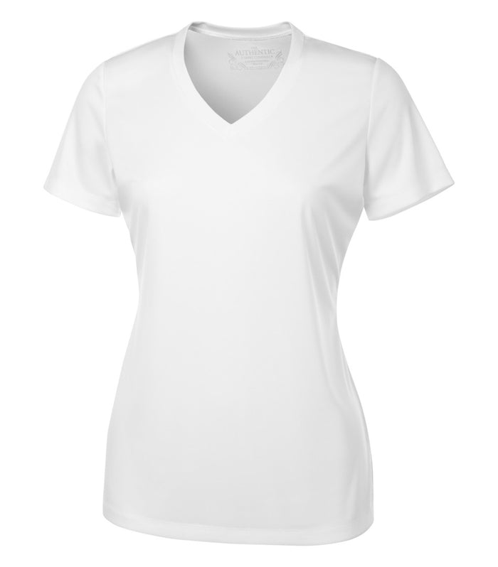 ATC PRO TEAM SHORT SLEEVE V-NECK LADIES' TEE - L3520 - White - ENDS MONDAY OVERNIGHT - READY TO SHIP FRIDAY