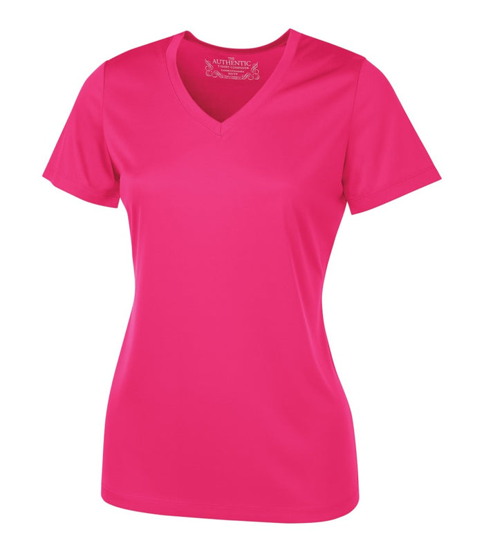 ATC PRO TEAM SHORT SLEEVE V-NECK LADIES' TEE - L3520 - Wild Raspberry - ENDS MONDAY OVERNIGHT - READY TO SHIP FRIDAY