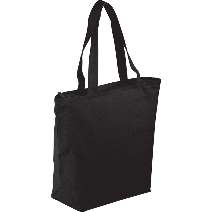 Tote - black - zippered