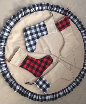 Tree skirts - Black-White plaid - ENDS Oct 4 - READY TO SHIP MID NOV
