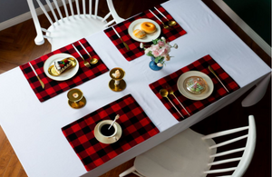 Buffalo plaid place mats - Extras - Ready to ship EARLY DEC