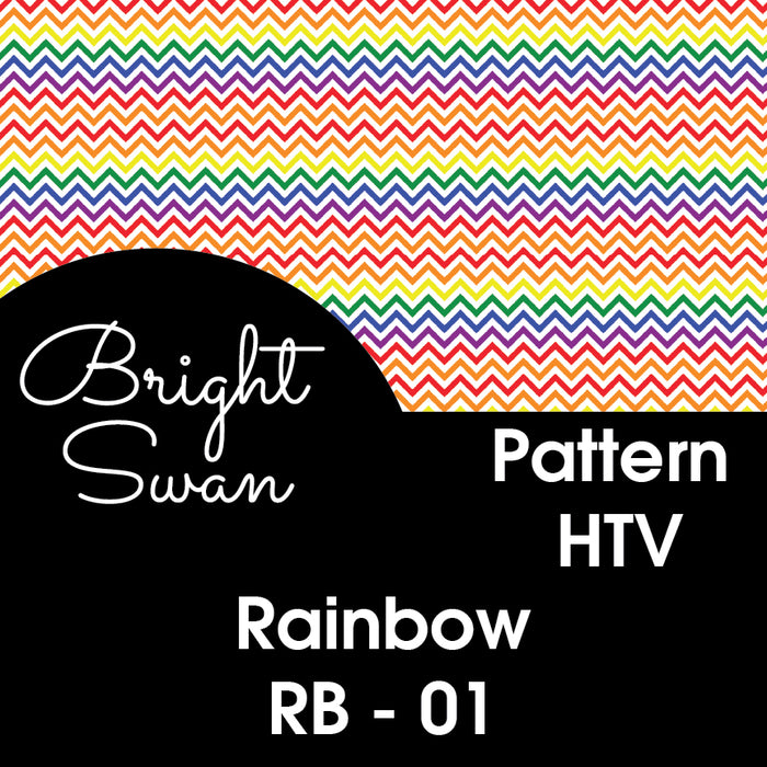 Patterned HTV - Rainbow - RB-01