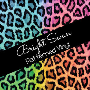 Patterned Vinyl & HTV - Leopard Rainbow