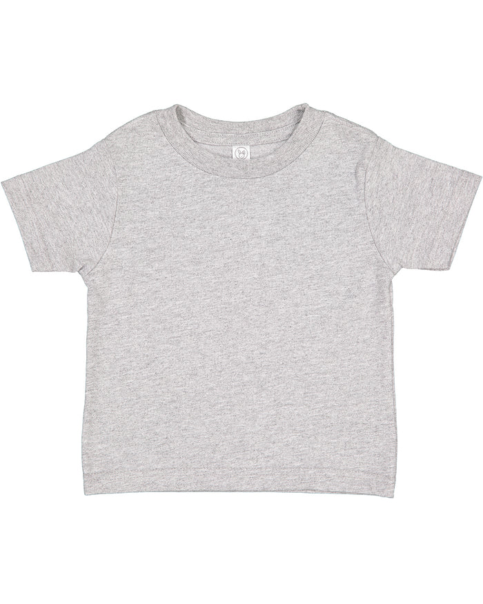 Rabbit Skins Toddler T-shirt - 3301 - HEATHER GREY - Ends Monday overnight - Ready to ship Friday