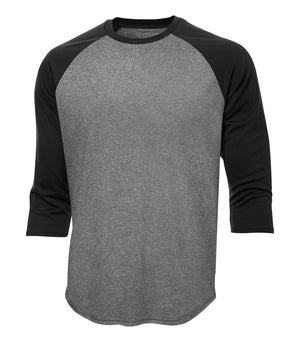 ATC PROTEAM BASEBALL JERSEY - S3526 - Charcoal Heather/Black - Ends Monday Overnight - Ready to Ship Friday