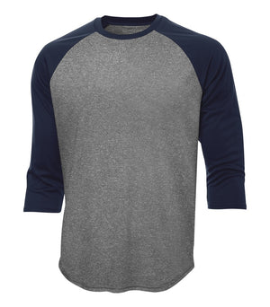 ATC PROTEAM BASEBALL JERSEY - S3526 - Charcoal Heather/True Navy - Ends Monday Overnight - Ready to Ship Friday