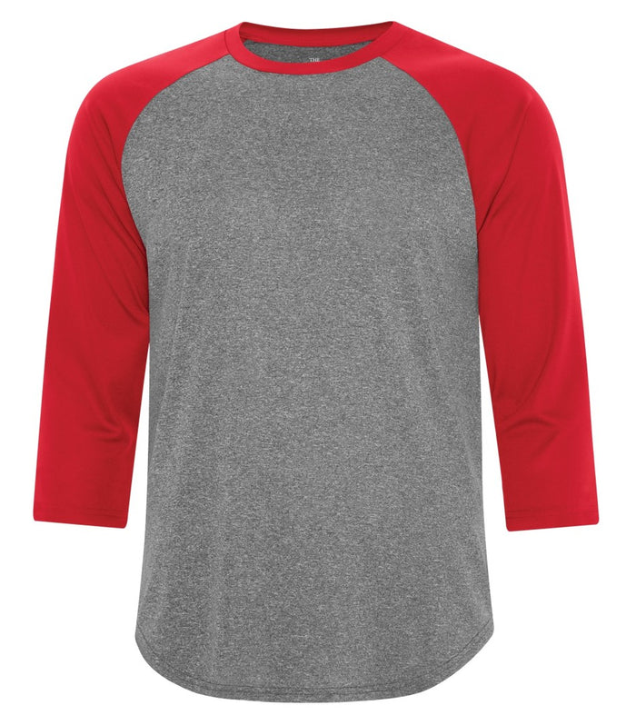 ATC PROTEAM BASEBALL JERSEY - S3526 - Charcoal Heather/True Red - Ends Monday Overnight - Ready to Ship Friday