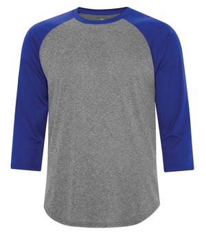ATC PROTEAM BASEBALL JERSEY - S3526 - Charcoal Heather/True Royal - Ends Monday Overnight - Ready to Ship Friday