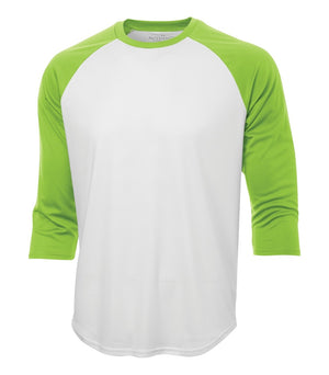 ATC PROTEAM BASEBALL JERSEY - S3526 - White/Lime Shock - Ends Monday Overnight - Ready to Ship Friday