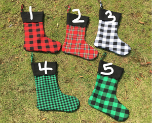 Stockings - Plaid - Black Top - Extras - Ready to ship early Dec