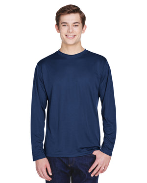 TT11L Team 365 Performance Mens Polyester Long Sleeve Shirt - NAVY - ENDS Monday night - Ready to ship Friday