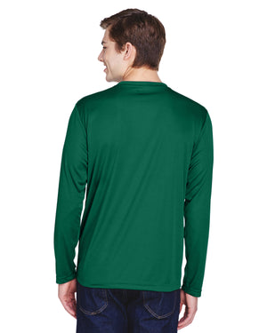 TT11L Team 365 Performance Mens Polyester Long Sleeve Shirt - DARK FOREST - ENDS Monday night - Ready to ship Friday
