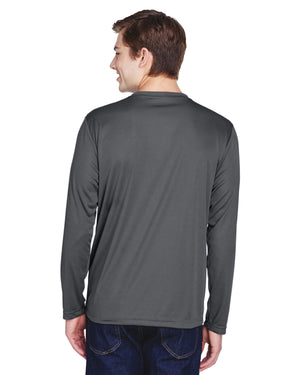 TT11L Team 365 Performance Mens Polyester Long Sleeve Shirt - SPORT GRAPHITE - ENDS Monday night - Ready to ship Friday
