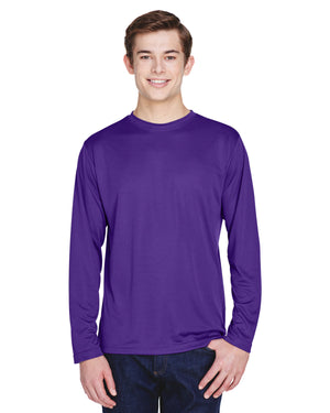 TT11L Team 365 Performance Mens Polyester Long Sleeve Shirt - SPORT PURPLE - ENDS Monday night - Ready to ship Friday