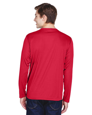 TT11L Team 365 Performance Mens Polyester Long Sleeve Shirt - SPORT RED - ENDS Monday night - Ready to ship Friday