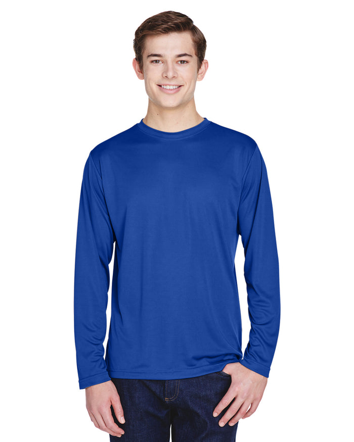 TT11L Team 365 Performance Mens Polyester Long Sleeve Shirt - SPORT ROYAL BLUE - ENDS Monday night - Ready to ship Friday