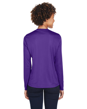 TT11L Team 365 Performance Womens Polyester Long Sleeve Shirt - SPORT PURPLE - ENDS Monday night - Ready to ship Friday
