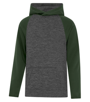 ATC DYNAMIC FLEECE TWO TONE HOODIE - YOUTH - Y2047 - Charcoal/Forest Green - Ends Monday overnight - Ready to Ship Friday