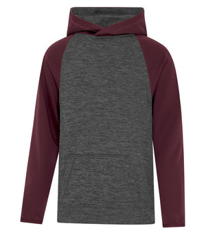 ATC DYNAMIC FLEECE TWO TONE HOODIE - YOUTH - Y2047 - Charcoal/Maroon - Ends Monday overnight - Ready to Ship Friday