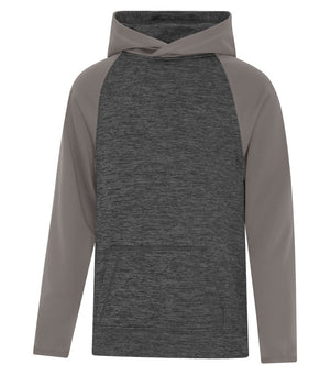 ATC DYNAMIC FLEECE TWO TONE HOODIE - YOUTH - Y2047 - Charcoal/Coal Grey - Ends Monday overnight - Ready to Ship Friday