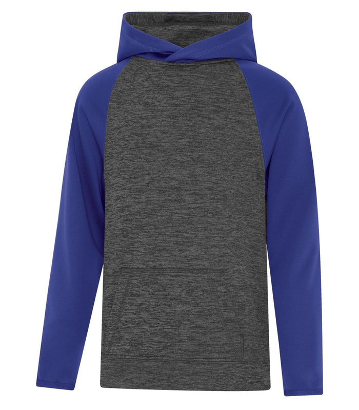 ATC DYNAMIC FLEECE TWO TONE HOODIE - YOUTH - Y2047 - Charcoal/Royal Blue - Ends Monday overnight - Ready to Ship Friday