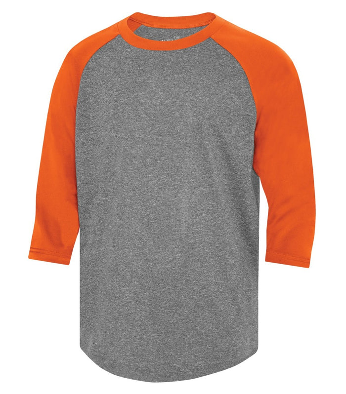 ATC PROTEAM BASEBALL YOUTH JERSEY - Y3526 - Charcoal Heather/Deep Orange - Ends Monday Overnight - Ready to Ship Friday
