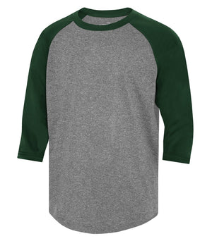 ATC PROTEAM BASEBALL YOUTH JERSEY - Y3526 - Charcoal Heather/Forest Green - Ends Monday Overnight - Ready to Ship Friday