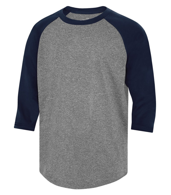 ATC PROTEAM BASEBALL YOUTH JERSEY - Y3526 - Charcoal Heather/True Navy - Ends Monday Overnight - Ready to Ship Friday