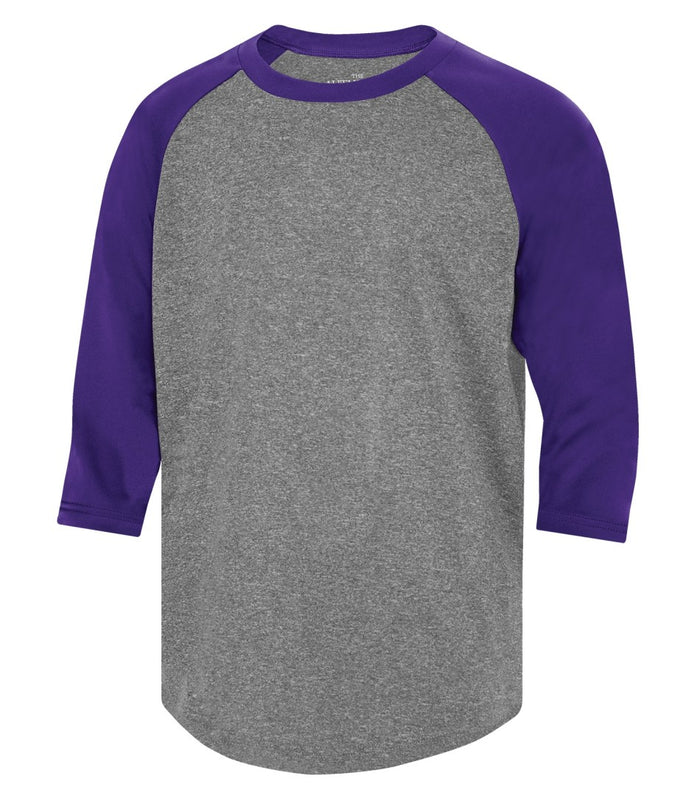 ATC PROTEAM BASEBALL YOUTH JERSEY - Y3526 - Charcoal Heather/Purple - Ends Monday Overnight - Ready to Ship Friday
