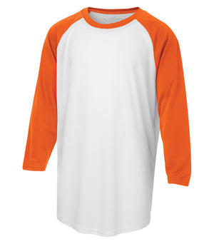 ATC PROTEAM BASEBALL YOUTH JERSEY - Y3526 - White/Deep Orange - Ends Monday Overnight - Ready to Ship Friday