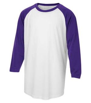 ATC PROTEAM BASEBALL YOUTH JERSEY - Y3526 - White/Purple - Ends Monday Overnight - Ready to Ship Friday
