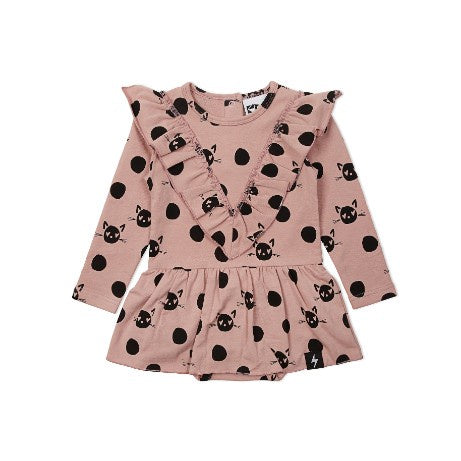 Kapow Kids Spot The Cat Baby dress Love By Five