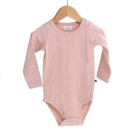 Burrow & Be Long sleeve Onesie Dusty Rose Love by Five