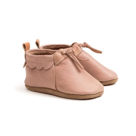 Pretty Brave Capsule dusky pink mocs baby shoes Love by Five