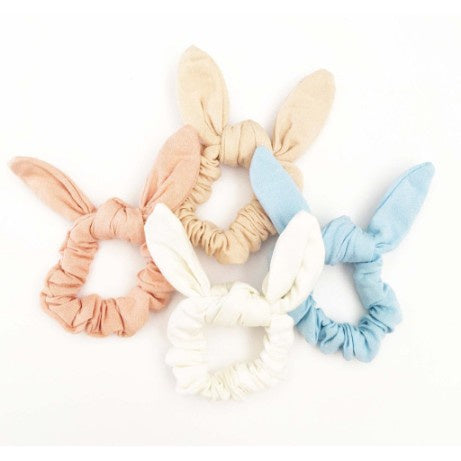Sister Bows Linen Bunny Scrunchies Love By Five