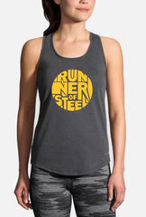 """Runner of Steel"" Logo Tops"