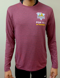 Men's 13.1 In-Training: Brooks Distance Long Sleeve (Burgundy)