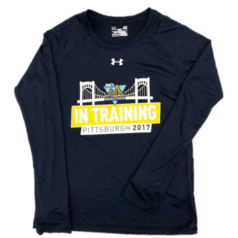 "Official 2017 DICK'S Sporting Goods Pittsburgh Marathon Participant ""In Training"" Under Armour Long Sleeve"