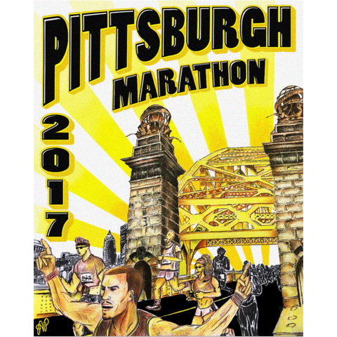 2017 Official Pittsburgh Marathon Poster