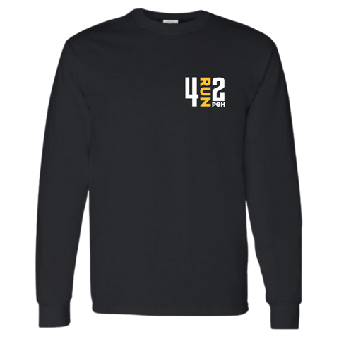 4RUN2 Long Sleeve: Black Cotton