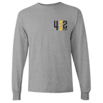 4RUN2 Long Sleeve: Grey Cotton
